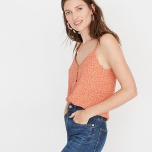 Madewell button cami Playground Posies 12 NEW